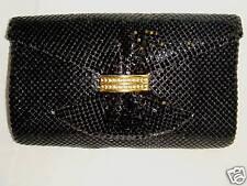 RETRO Shimmering Black Evening Bag RHINESTONE CLASP