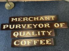 Traditional Coffee Shop Sign Merchant Purveyors of Quality Coffee Wood Signage