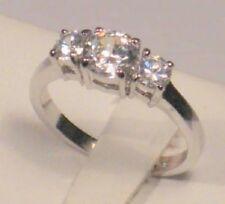 1.80 Ct Round Diamond 3 Stone Engagement Anniversary Ring White Gold ov