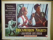 DECAMERON NIGHTS, orig 1953 LC #6 (Joan Fontaine, Louis Jourdan)