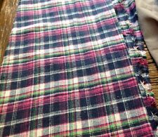 CLEARANCE: Check Pattern Brushed Cotton Blanket / Shirting Fabric