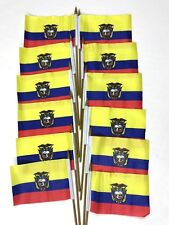 Ecuador Small 4 X 6 Inch Country Stick Flags Banner with 10 Inch Plastic Pole