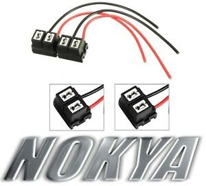 Nokya Wire Harness Pigtail Female H7 Nok9106 Head Light Bulb Low Beam Socket Fit