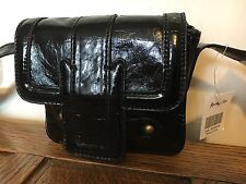 Accessorize Bnwt Black Patent BNWT  Designer Shoulder Holiday Party Clutch Cross