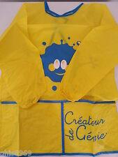 1 tablier manches longues jaune pour enfant ,3 à 8 ans,idéal peinture et cuisine