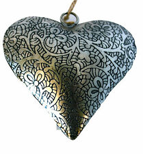 """Unique Handmade Etched Tin 4""""Heart-Valentine 39;s Day"""