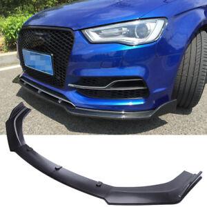 Matte Black Front Bumper Lip Spoiler Splitter Trim Cover For AUDI A3 A4 A5 A6 A7