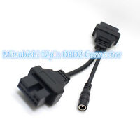 New for Mitsubishi 12pin OBD1 OBD2 Connector Adapter free shipping