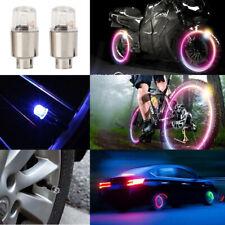 2X  Car Auto SUV Wheel Tire Tyre Air Valve Stem LED Light Caps Cover Decoration