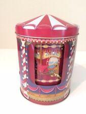 Charming n Rare Vintage Style Carousel n Circus theme Cookie Musical 3D Tin Box