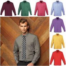 Cotton Blend Long Business-Regular Collar Formal Shirts for Men