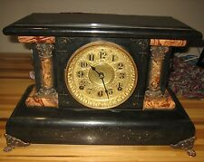 ANTIQUE SETH THOMAS MUSICAL MANTEL CLOCK WITH MUSIC BOX AND GONG!