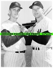 Vintage, Extremely RARE Roger Maris & Mickey Mantle Large Photograph (11x14)
