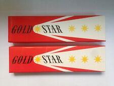 2 x 12 VINTAGE BOHEMIA WORKS PENCILS: GOLD STAR 1860 6B - CZECHOSLOVAKIA, NEW