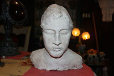 Creepy & Odd Lifesize Death Mask Bust Of Woman-Plaster-Detailed Burial Face Mask