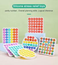 Pop Push It Bubble Fidget Toy Hard Shell Stress Relief Sensory Special Needs