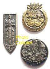 Lot 3 insignes régimentaires : 2eme Cie 9eme RCP + 501eme RCC + 10eme RI