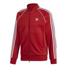 Adidas Originals HOMBRE Sst Chaqueta Chándal Top Superstar Rojo Blanco 3-STRIPE