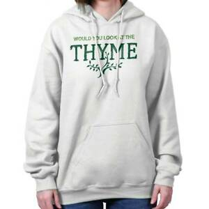 Thyme Home Gardening Gardener Green Thumb Women Long Sleeve Hoodie Sweatshirt