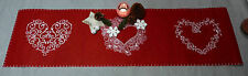 1 x Tischläufer Mitteldecke Läufer Tischdecke Filz rot Weihnachten Advent Decke