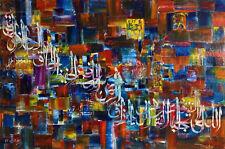 Islamic Arabic Quran Large 100% Handmade Calligraphy Painting 99 Names of Allah