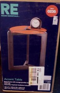 "Room Essentials Accent Table - CHOOSE Pink OR Orange - 18"" x 16"" - BRAND NEW"