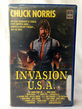 INVASION U.S.A. / VHS / CHUCK NORRIS / ACTION / RATED R / RARE PAL VHS / CANNON