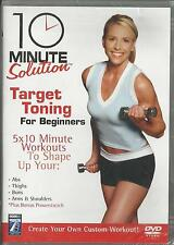 10 Minute Solution Target Toning For Beginners DVD NEW Workout Fitness Muscle
