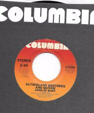 SUTHERLAND BROTHERS & QUIVER * 45 * Arms Of Mary * 1975 * VG+ VINYL PRESSING USA