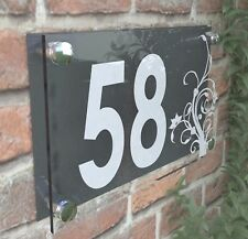 Clear Acrylic House Sign Modern Decorative Door Number Name Plaques Dec4-19WA