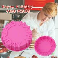 Silicone Birthday Round Cake Mold Pan Kitchen BakingTools Mould Mould Bread W1D4