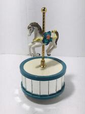 Vintage Carousel Horse Music Box