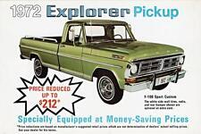 Old Print. 1972 Ford Explorer Pickup advertisement