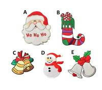Christmas Xmas Embroidered Iron On Sew On Patches Badges Transfers