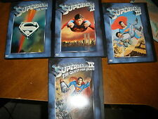 4 Superman DVD set The Movie, 2, 3, 4 old school doesn't get better than this