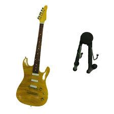 Miniatur gitarre in holz malerei mit sockel für unterstützung 25,5cm