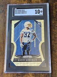 19 Panini GOLD Vinyl Nasir Adderley ONLY/5! SGC 10 Mint POP 1🔥1/1💎Chargers RC!