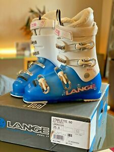 Lange Starlette 60 Ski Boots - White 25.5 UK Size 6-6.5 - Boxed