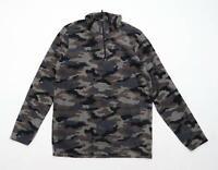 Mountain Warehouse Mens XS Grey Camouflage Fleece Jacket