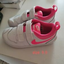 Girls White And Pink Nike Trainers Toddler Size 9.5  . Worn once
