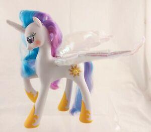 "My Little Pony White Princess Celestia 9"" Talking Light-up Wings WORKS"