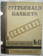 FITZGERALD Manufacturing Co Gaskets Service Guide Catalog ASBESTOS 1940 RARE!