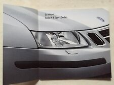 Depliant Saab 9-3 Sport Sedan In italiano 2002