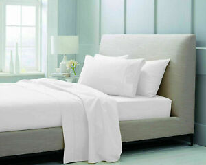 Flat Sheet Bed Sheets Poly Cotton Percale Single 4FT Double King Super King Size