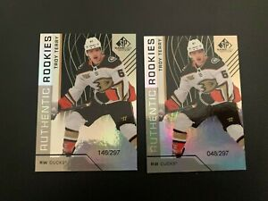 18/19 SP Game Used Rainbow Rookie Troy Terry x2