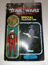 1984 STAR WARS POTF B WING PILOT WITH COIN 92 BACK VINTAGE KENNER UNPUNCHED