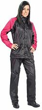 JOE ROCKET RS2 WOMENS MOTORCYCLE RAIN SUIT MEDIUM BLACK PINK HEAT PROTECTION