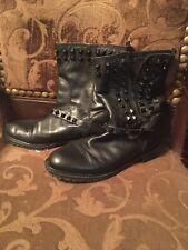 Zara Woman Leather Flat Boots Size 11