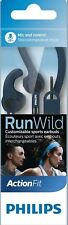Brand New GENUINE PHILIPS SHQ1405BL RunWild SPORT Action Fit Earbuds Headphones