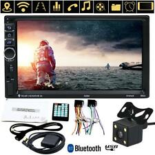 "1080P 7"" 2 Din Android 7.0 Bluetooth Car GPS Navigator MP3 MP5 Player + Camera"